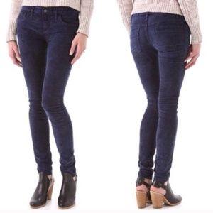 Free People Navy Blue Corduroy Skinny Jeans 26